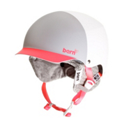 Bern Muse EPS Womens Helmet 2013, Matte White-Watermelon-Knit, medium