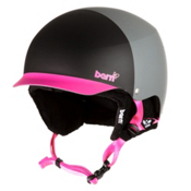 Bern Muse EPS Womens Helmet 2013, Matte Black-Magenta Hatstyle, medium