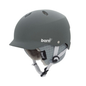 Bern Lenox EPS Womens Helmet 2013, Matte Grey-Green Brim-Grey Knit, medium