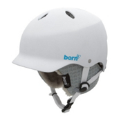 Bern Lenox EPS Womens Helmet 2013, Gloss White-Grey Knit, medium
