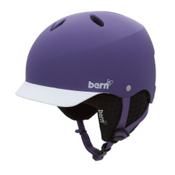 Bern Lenox EPS Womens Helmet 2013, Matte Purple Brim-Black Knit, medium