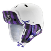 Bern Brighton EPS Womens Helmet, White-Buffalo Plaid Hunter, medium