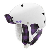 Bern Brighton EPS Womens Helmet 2013, White-Buffalo Plaid Hunter, medium
