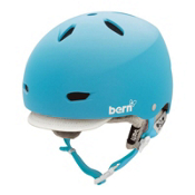 Bern Brighton EPS Womens Helmet 2013, Matte Cyan-Visor Knit, medium