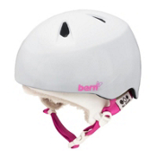 Bern Nina Girls Helmet 2013, Gloss White-White Visor Kit, medium