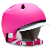 Bern Nina Girls Helmet 2013, Matte Magenta-White Visor Kit, medium