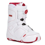 Salomon Pearl Boa Womens Snowboard Boots 2013, White-Light Rubis Red-White, medium