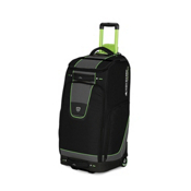 High Sierra Skis.com 30 Inch Wheeled Trapezoid Duffle Bag 2013, Black-Charcoal-Chartreuse, medium