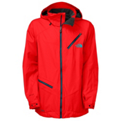 The North Face Cymbiant Mens Shell Ski Jacket, Fiery Red, medium