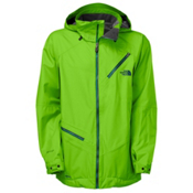 The North Face Cymbiant Mens Shell Ski Jacket, Glo Green, medium
