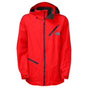 The North Face Cymbiant Long Mens Shell Ski Jacket, Fiery Red, medium