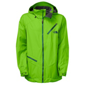 The North Face Cymbiant Long Mens Shell Ski Jacket, Glo Green, medium