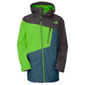 The North Face Gonzo Long Mens Shell Ski Jacket, Glo Green, medium