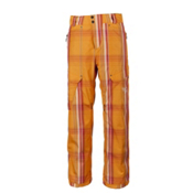 Obermeyer Yukon Mens Ski Pants, Orange Sophisto Plaid, medium