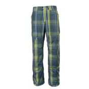 Obermeyer Yukon Mens Ski Pants, Blue Sophisto Plaid, medium