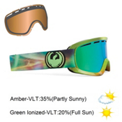 Dragon D2 Goggles 2013, Aurora Borealis-Green Ionized, medium