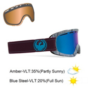 Dragon D2 Goggles 2013, Woodgrain-Blue Steel, medium