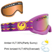 Dragon DXS With Extra Lens Goggles 2013, Purple Mountains-Pink Ionized, medium