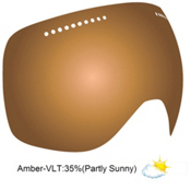 Dragon APX Goggle Replacement Lens 2013, Amber, medium