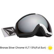 Electric EG2 Volcom Co-Lab Goggles 2013, V.co Lab-Bronze Silver Chrome, medium