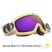 Electric EG.5s Goggles 2013, Armored Sand-Bronze Blue Chrom, medium