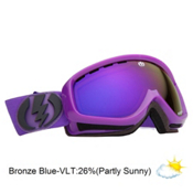 Electric EGK Kids Goggles 2013, Royal Purple-Bronze Blue Chrom, medium