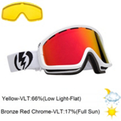 Electric EGB2 Goggles 2013, Gloss White-Bronze Red Chrome, medium