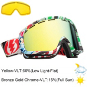 Electric EGB2 Goggles 2013, Rat Face-Bronze Gold Chrome, medium