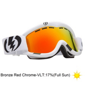 Electric EG1 Goggles 2013, Gloss White-Bronze Red Chrome, medium