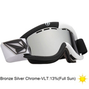Electric EG1 Volcom Co-Lab Goggles 2013, V.co Lab-Bronze Silver Chrome, medium