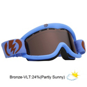 Electric EG1K Kids Goggles 2013, Icy Blue Matte-Bronze, medium