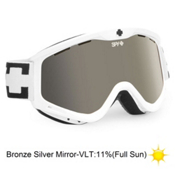Spy Targa 3 Goggles 2013, White-Bronze Silver Mirror, medium