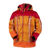 Obermeyer Katahdin Mens Insulated Ski Jacket, Orange Sophisto Plaid, medium