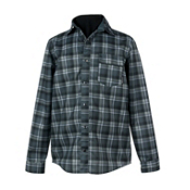 Obermeyer Topher Windshirt Mens Mid Layer, Slate Flannel Plaid, medium