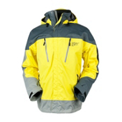 Obermeyer Katahdin Mens Shell Ski Jacket, Acid Yellow, medium