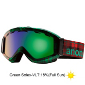 Anon Figment Goggles 2013, Crystal King-Green Solex, medium