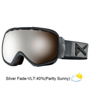 Anon Somerset Womens Goggles 2013, White Suede-Blue Silver Fade, medium