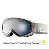 Anon Majestic Womens Goggles 2013, White Suede-Blue Silver Fade, medium