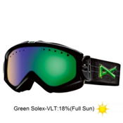 Anon Majestic Womens Goggles 2013, Black Suede-Green Solex, medium