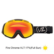 Vonzipper El Kabong Goggles 2013, Black Satin-Fire Chrome, medium