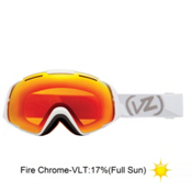 Vonzipper El Kabong Goggles 2013, White Satin-Fire Chrome, medium