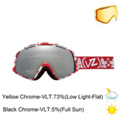 Vonzipper El Kabong Goggles 2013, Kushflake Red-Black Chrome, medium