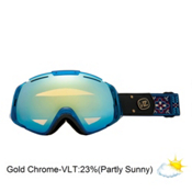 Vonzipper El Kabong Goggles 2013, Gypsy Tears-Gold Chrome, medium