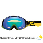 Vonzipper El Kabong Frosteez Goggles 2013, Frosteez Green Yellow-Quasar Chrome, medium