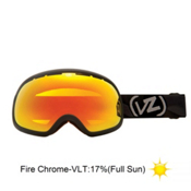 Vonzipper Fishbowl Goggles 2013, Black Satin-Fire Chrome, medium