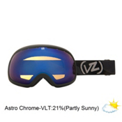 Vonzipper Fishbowl Goggles 2013, Black Satin-Astro Chrome, medium