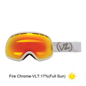 Vonzipper Fishbowl Goggles 2013, White Satin-Fire Chrome, medium