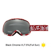Vonzipper Fishbowl Goggles 2013, Kushflake Red-Black Chrome, medium