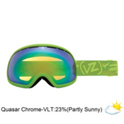 Vonzipper Fishbowl Goggles 2013, Lime Satin-Quasar Chrome, medium