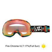 Vonzipper Fishbowl Goggles 2013, Double Rainbow-Fire Chrome, medium